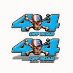 Mk303OR4-4x4-Off-Road-American-Patriot-Skull--Blue