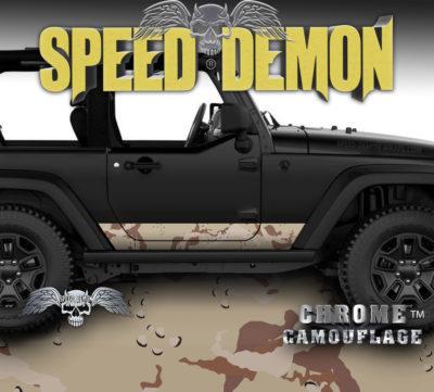 2007-2018 Jeep Wrangler Rocker Wrap Camo Desert Camouflage