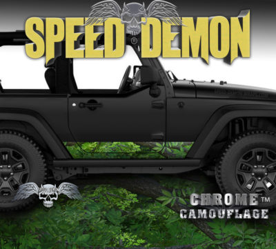 2007- 2017 Jeep Wrangler Rocker Wrap Camouflage True Forest Camo