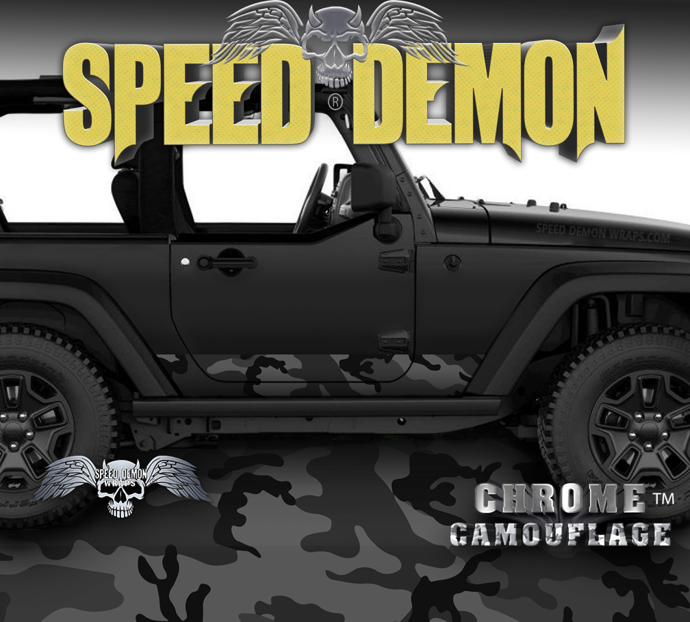 2007-2018 Jeep Wrangler Rocker Wrap Black Urban
