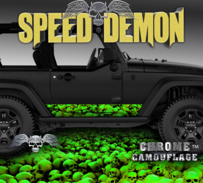 Jeep Wrangler Rocker Wrap SKULL-CRUSHER Green