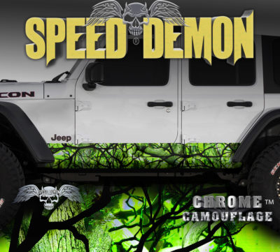 Jeep JK Rocker Panel Wrap Camo Zombie Bile Camouflage