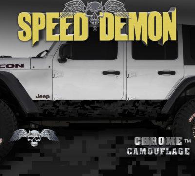 Jeep Wrangler Rocker Panel Camo Wrap Black Camouflage