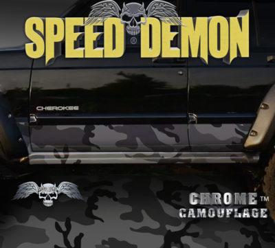 Jeep Cherokee Rocker Panel Camo Wrap Black Urban Camouflage