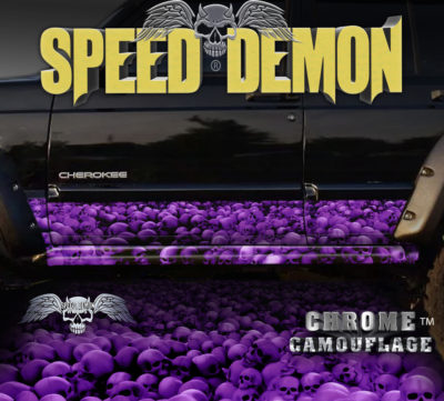 Jeep Cherokee Rocker Panel Wraps Skulls Purple