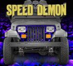 Jeep Wrangler Grill Wraps Skulls Skull Crusher Camouflage Blue Purple Hue
