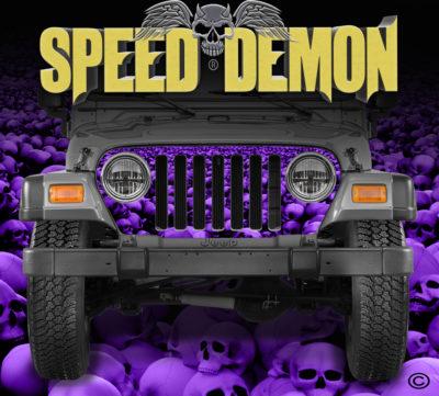 Jeep Wrangler Grill Wraps Skulls Skull Crusher Purple