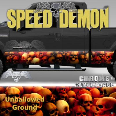 Skull Truck Rocker Panel Wraps Red Skulls Unhallowed Ground